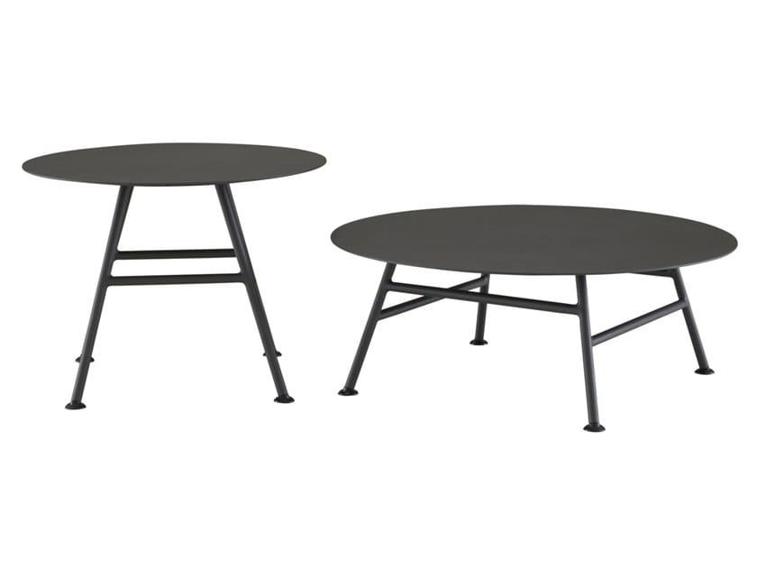 Round aluminium garden side table GARDEN PACK by Ligne Roset