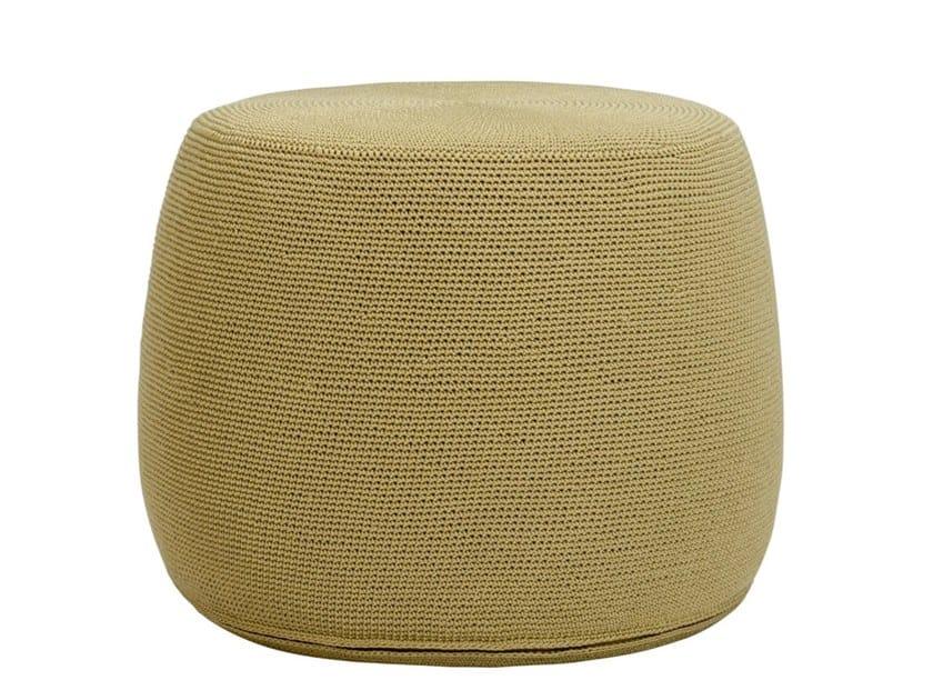 Round polypropylene garden pouf BON VIVANT | Garden pouf by JANUS et Cie