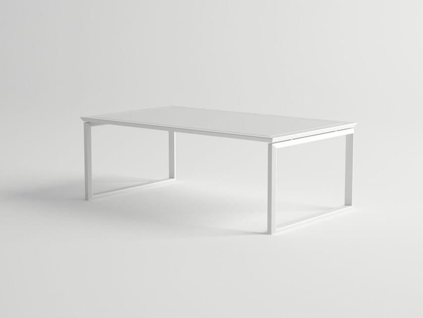 Rectangular aluminium garden side table ORA | Garden side table by 10Deka