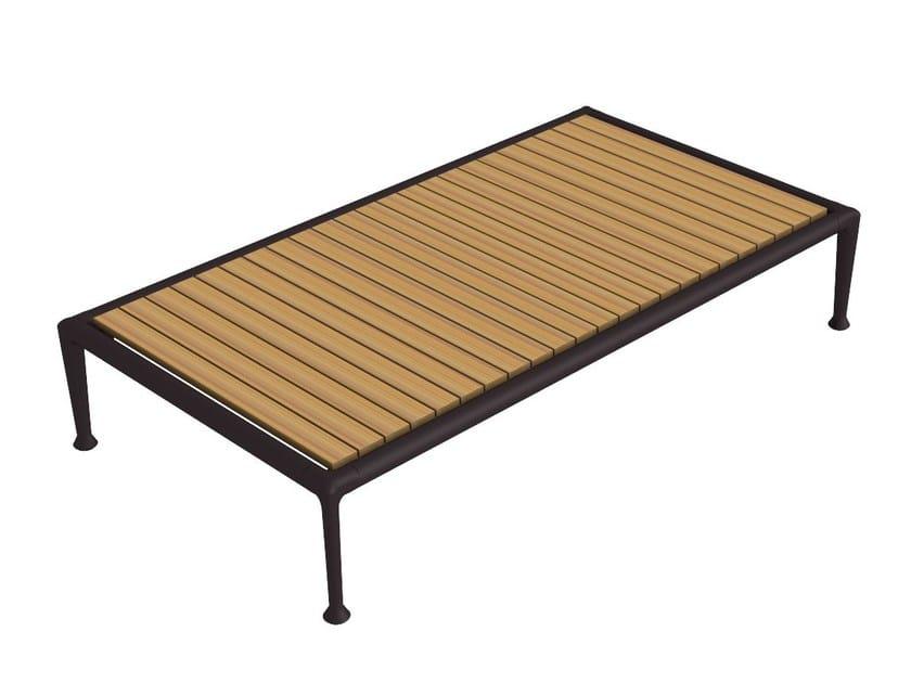 Rectangular teak garden side table TREBLE | Garden side table by Unopiù