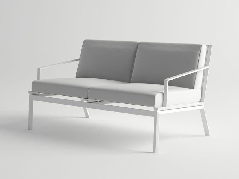 2 seater aluminium sofa ORA | Sofa by 10Deka