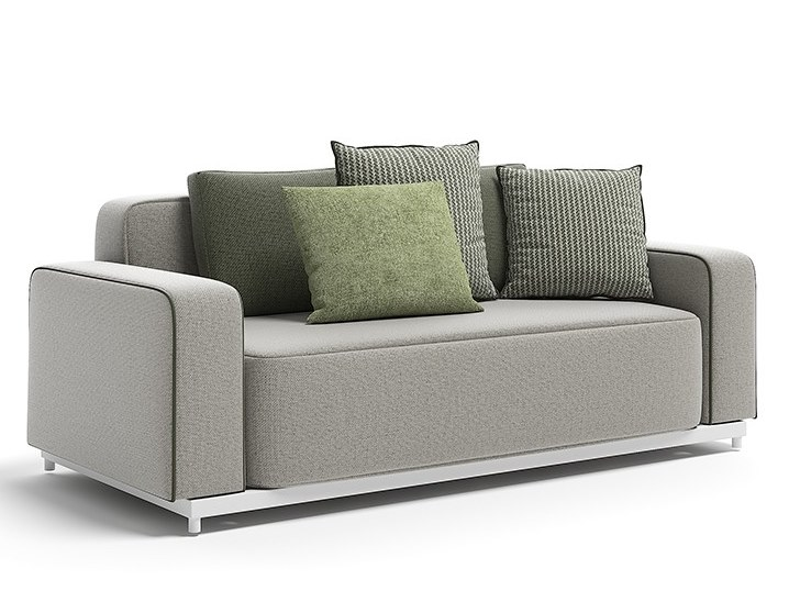 Upholstered technical fabric garden sofa LORD   Garden sofa by Atmosphera