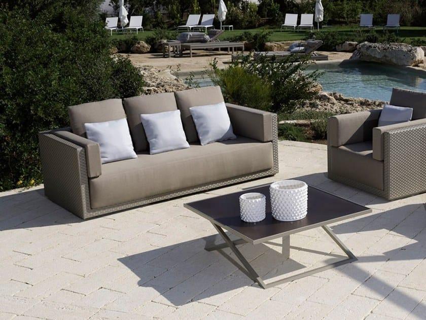 Polyethylene fibre garden sofa ZOE | Garden sofa by Braid