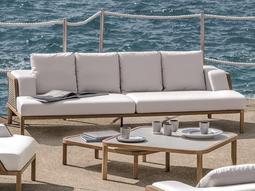 4 seater garden sofa GRAND LIFE | Garden sofa by Ethimo