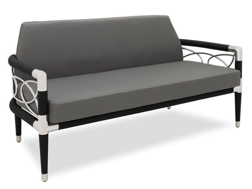 2 seater stainless steel garden sofa DAVOS | Garden sofa by Indian Ocean