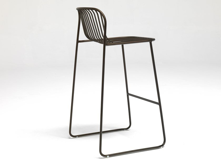 High steel stool RIVIERA | Stool by emu