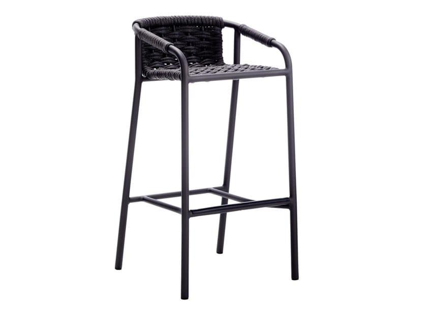 High garden stool with footrest CAPRI   Garden stool by Roberti Rattan