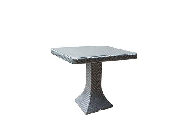 Square garden table DORIC   Garden table by 7OCEANS DESIGNS