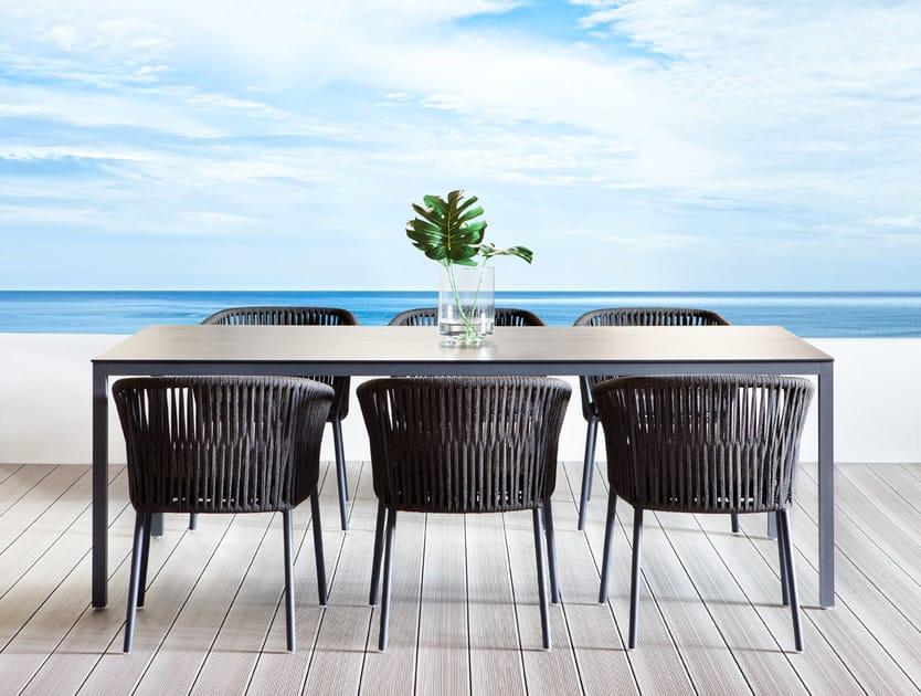 Rectangular garden table LOUISE | Garden table by Déco