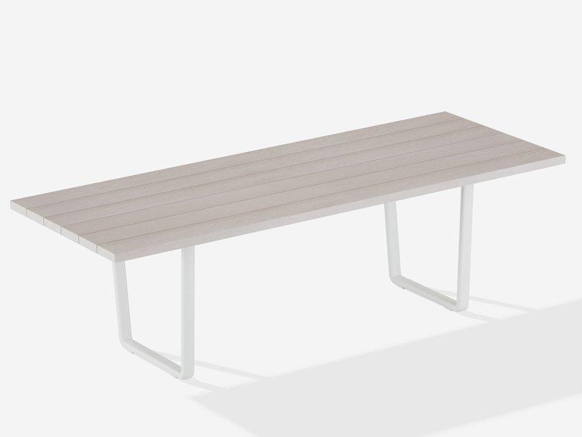 Tavolo da giardino rettangolare in alluminio effetto legno ORIZON | Tavolo da giardino by FAST
