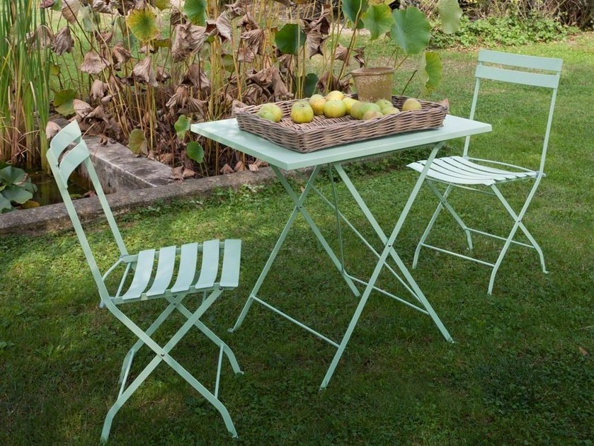 Folding iron garden table FOLDY | Garden table by Unopiù