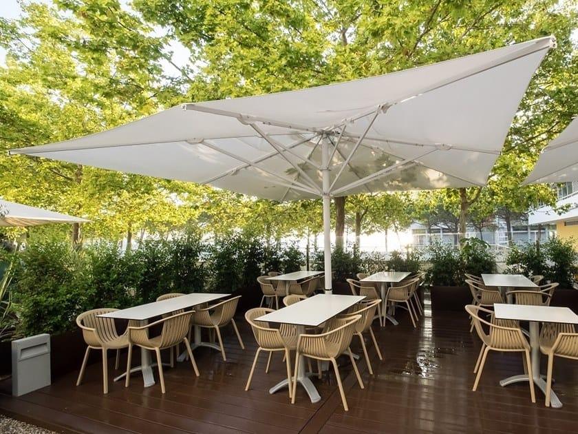 Square Garden umbrella with telescopic system CAPRI | Garden umbrella by Scolaro Parasol