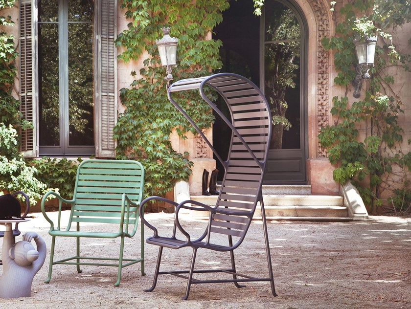High-back garden armchair GARDENIAS | High-back garden armchair by BD Barcelona Design