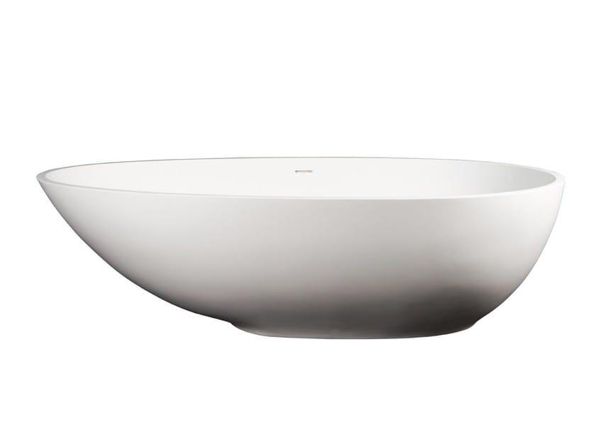 Freestanding Solid Surface® bathtub GARDONE by 7Baths