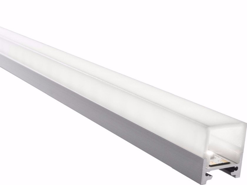 Ceiling mounted aluminium Linear lighting profile for LED modules GARL by GLIP by S.I.L.E