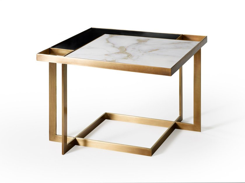 Low square coffee table GARY | Low coffee table by MARIONI