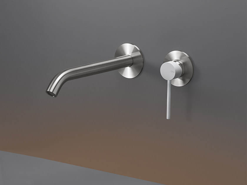 2 hole wall-mounted stainless steel washbasin mixer GAS 22 by Ceadesign