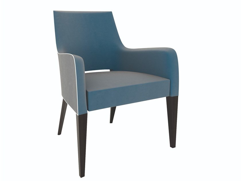 Upholstered fabric armchair with armrests GATSBY | Armchair by SELVA