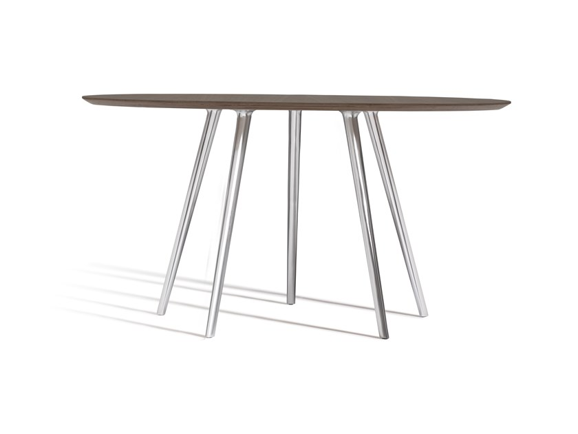 Aluminium table base GAZELLE 140 by Capdell