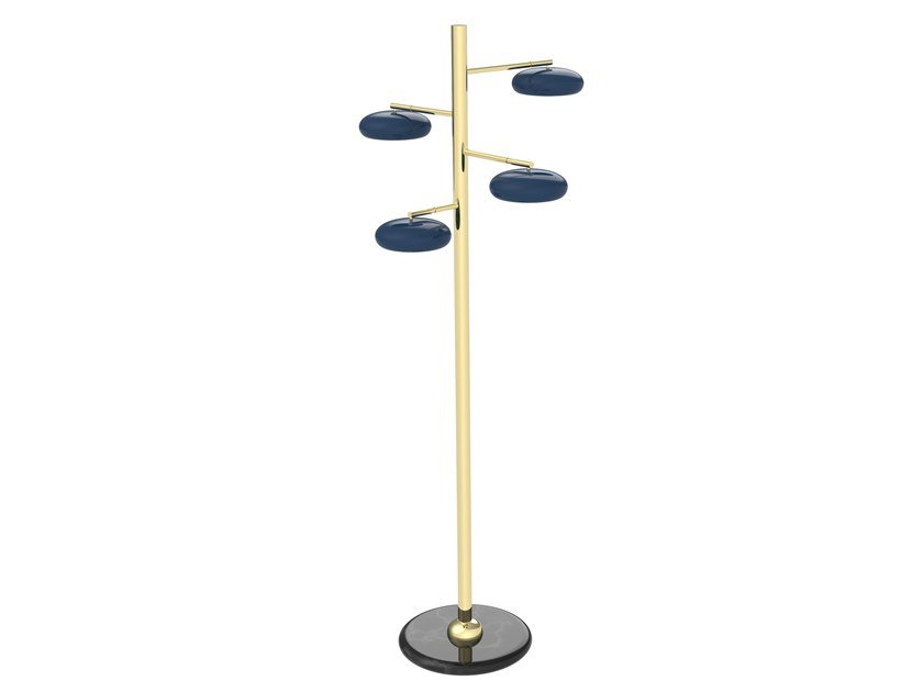 LED brass floor lamp GEA 01 by Il Bronzetto