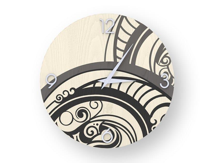 Orologio da parete in legno intarsiato GEAR COLD | Orologio by LIGNIS®