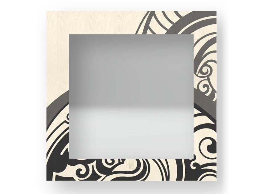 Specchio quadrato a parete con cornice GEAR COLD | Specchio by LIGNIS®