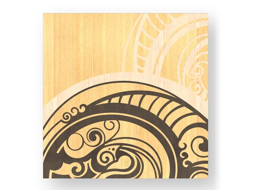 Quadro in legno intarsiato GEAR WARM by LIGNIS®