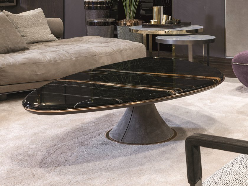 Marble coffee table for living room GEHRY | Marble coffee table by Longhi