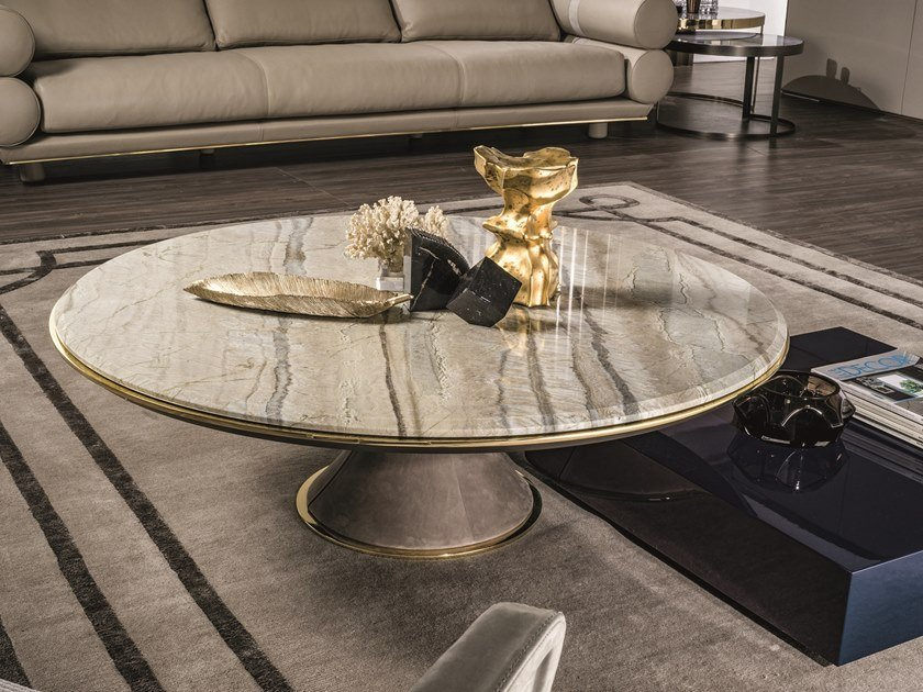 Gehry Round Coffee Table Loveluxe