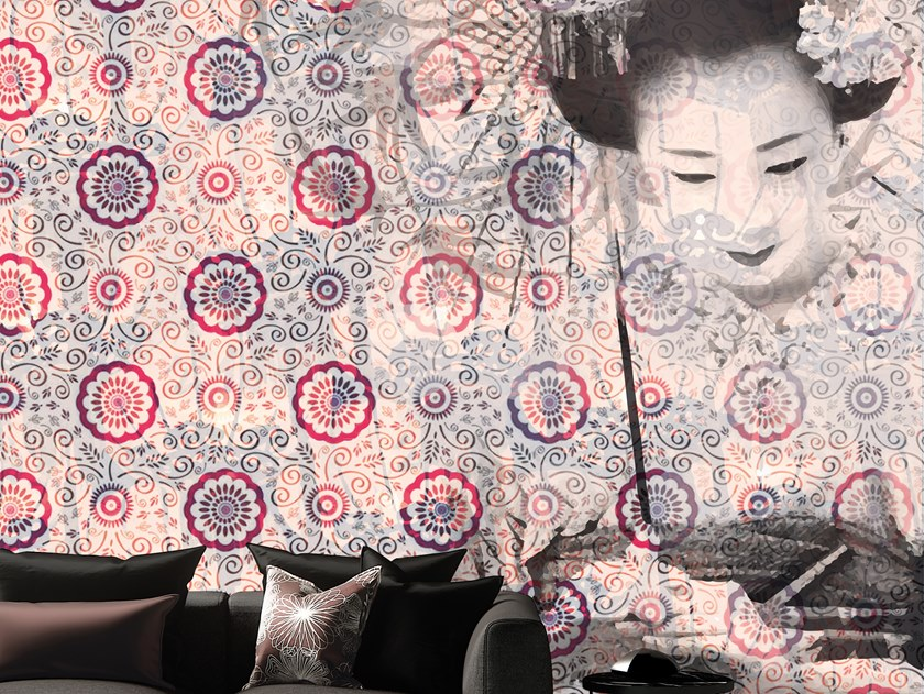 Motif vinyl wallpaper GEISHA by Baboon