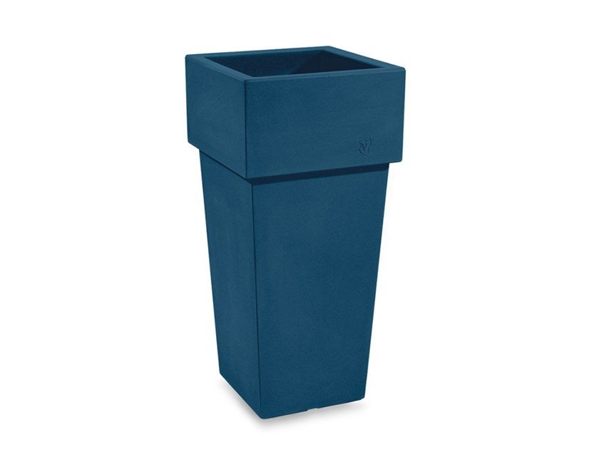 High square polyethylene plant pot GEMINI | Plant pot by Lyxo Design