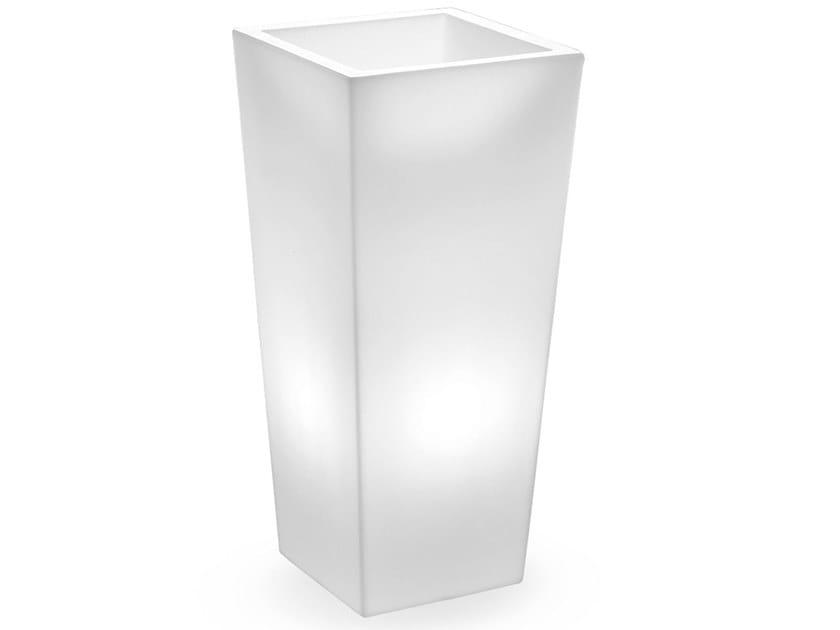 Square polyethylene plant pot with light GENESIS QUADRATO | Plant pot with light by Lyxo Design