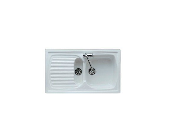 1 1/2 bowl built-in sink with drainer GENIUS | Sink by GALASSIA