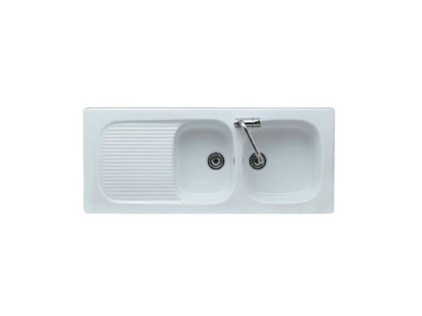 2 bowl built-in sink with drainer GENIUS 116 by GALASSIA