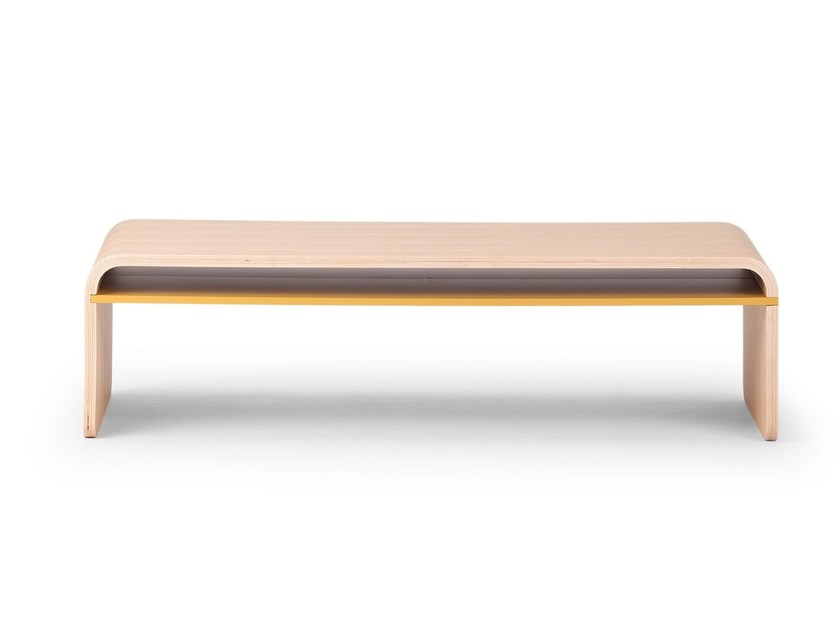 Rectangular wooden coffee table GENIUS | Coffee table by True Design
