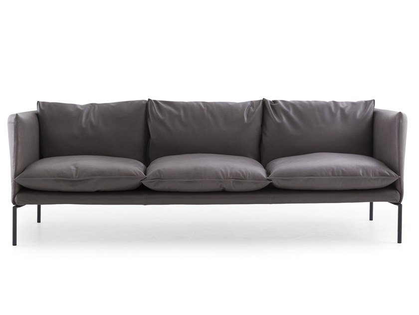 Leather or fabric sofa GENTRY EXTRA LIGHT by Moroso