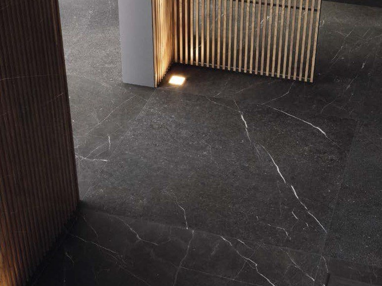 Porcelain stoneware wall/floor tiles with marble effect GENUS GOLD N by Ceramica d'Imola