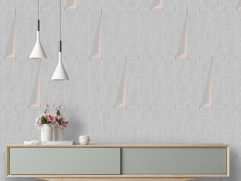 Geometric washable vinyl wallpaper GEO DOOR by Baboon