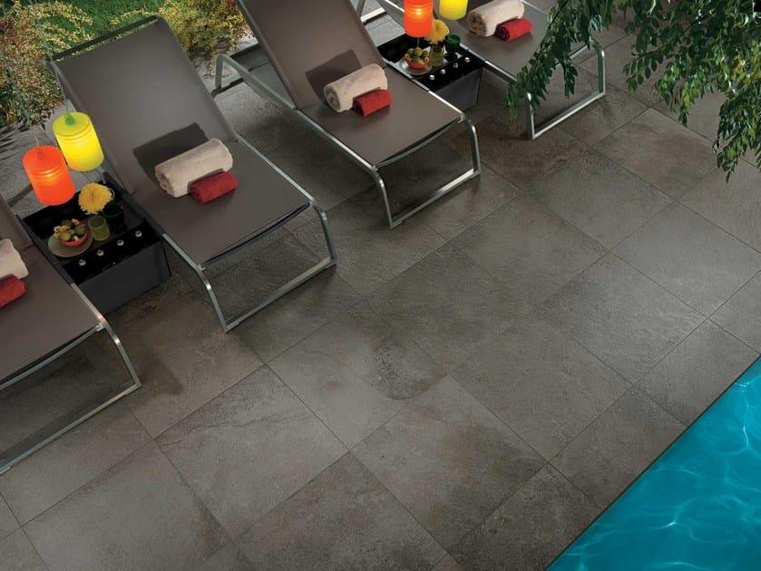 Pavimento/rivestimento effetto pietra per esterni GEO GRIS OUTDOOR PLUS by NOVOCERAM