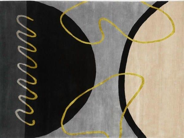 Handmade rectangular rug GEO SPRING II by Deirdre Dyson