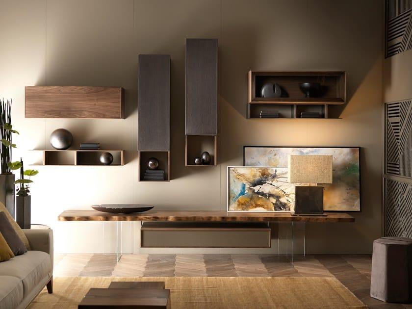 Sectional storage wall GEO 01 | Storage wall by Arte Brotto