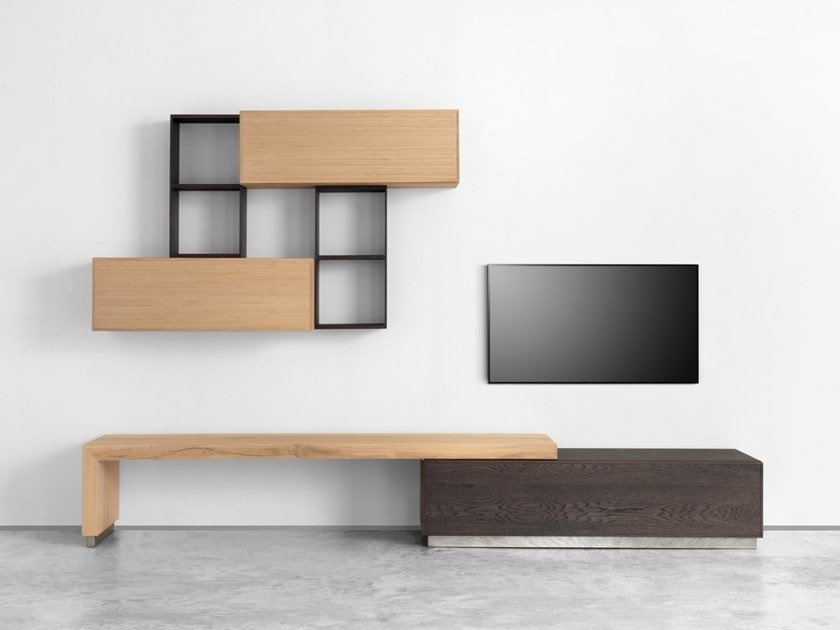 Sectional storage wall GEO 04 | Storage wall by Arte Brotto