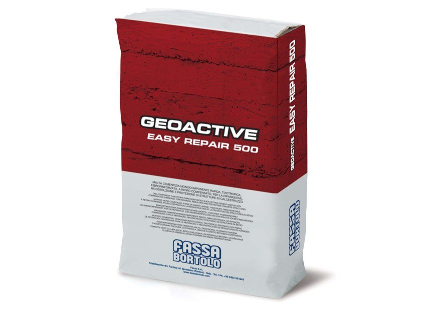 Fibre reinforced mortar GEOACTIVE EASY REPAIR 500 by FASSA