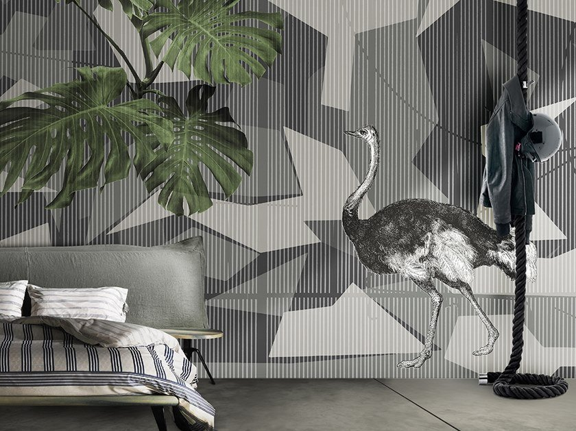 Vinyl or fyber glass wallpaper GEOMETRIC CAMU by N.O.W. Edizioni