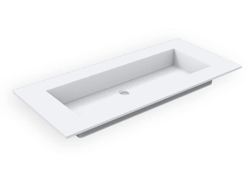 Lavabo rettangolare in Corian® GEOMETRIC SGM | Lavabo da incasso soprapiano by AMA Design