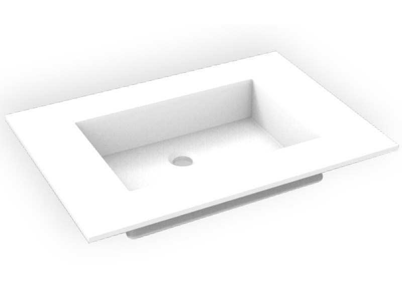 Rectangular Corian® washbasin GEOMETRIC SGM | Rectangular washbasin by AMA Design