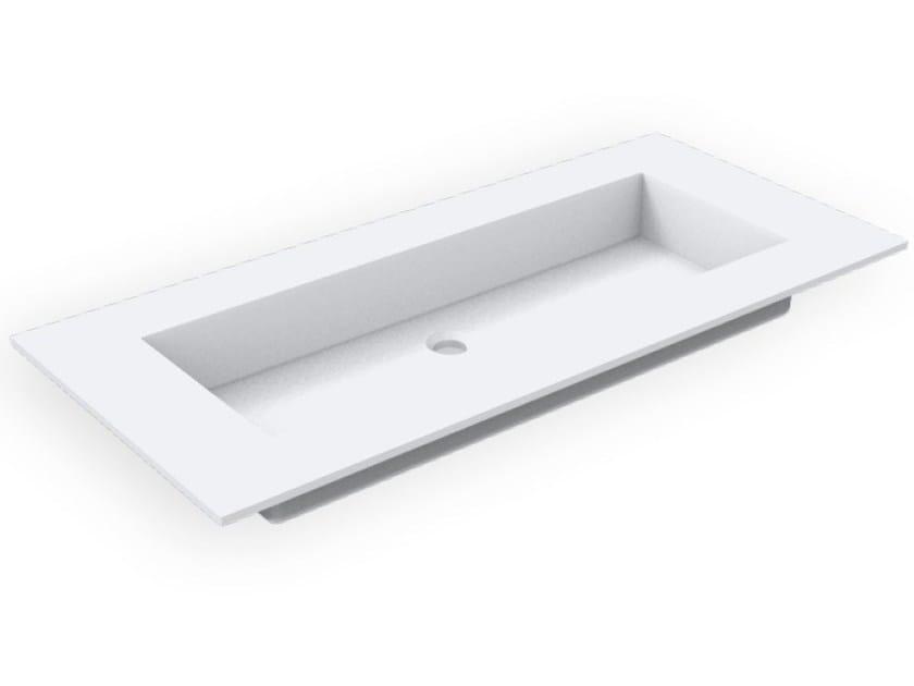 Rectangular Corian® washbasin GEOMETRIC SGP | Rectangular washbasin by AMA Design