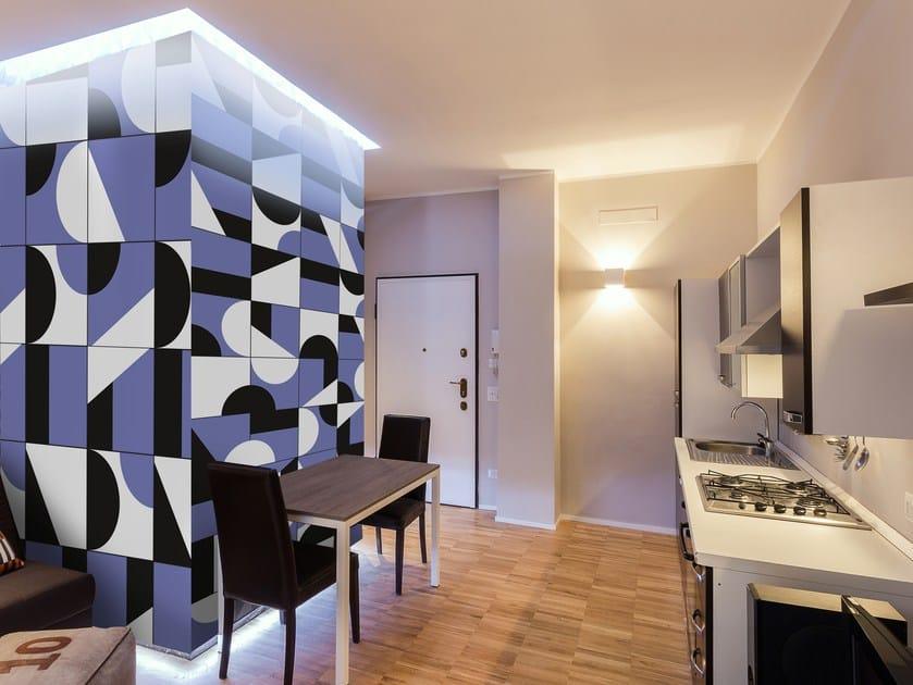 Adhesive geometric washable wallpaper GEOMETRIC by Wall LCA