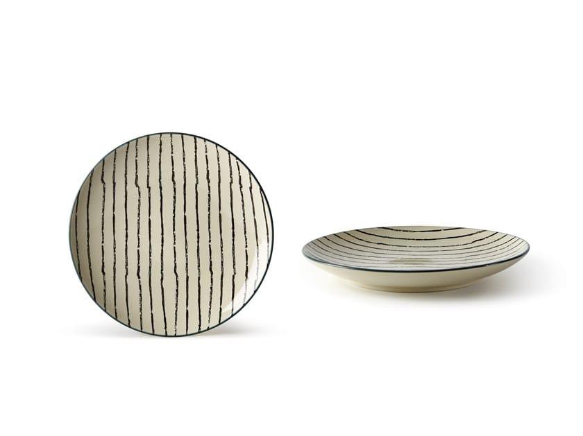 Porcelain stoneware dessert plate GEOMETRIE 1 | Dessert plate by Fill