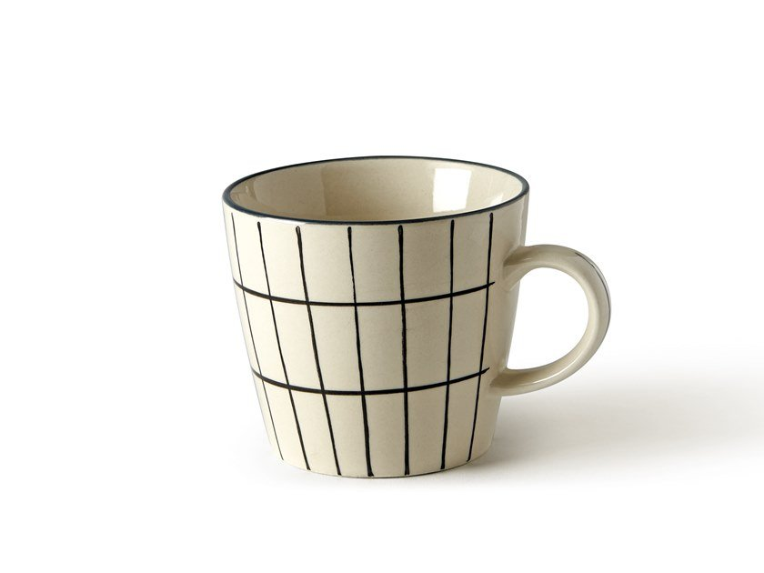 Porcelain stoneware cup GEOMETRIE 2 | Cup by Fill